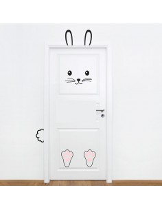 Sticker de Porte: Lapin