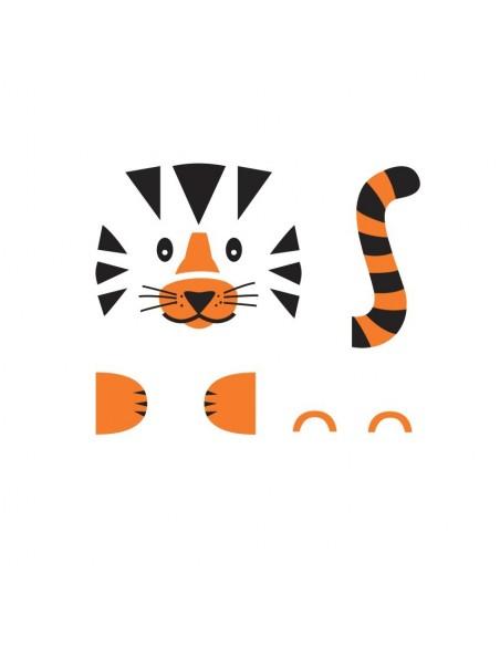 Stickers de Porte,Sticker de Porte: Tigre