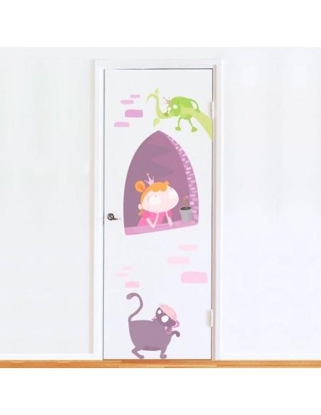 Stickers de Porte,Sticker de Porte: Princesse