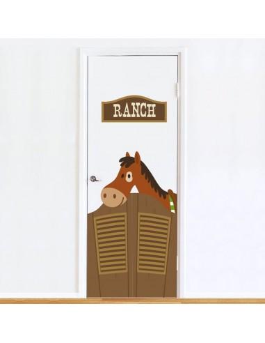 Stickers de Porte,Sticker de Porte: Ranch