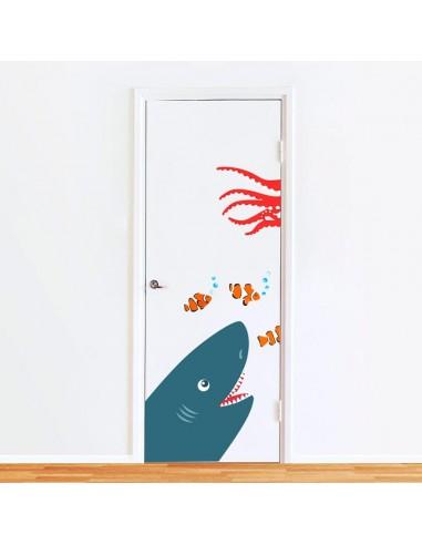 Stickers de Porte,Sticker de Porte: Requin