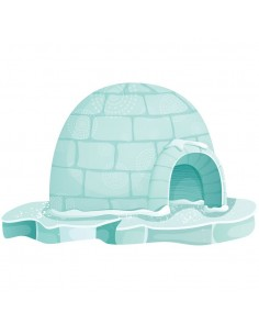 Stickers Polaire,Sticker Polaire: Igloo