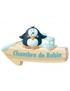 Sticker Prénom : Pingouin