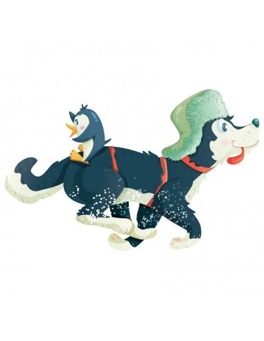 Stickers Polaire,Sticker Polaire: Eliot & son Pingouin