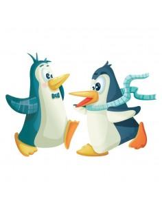 Stickers Polaire,Sticker Polaire: Pingouins Danseurs