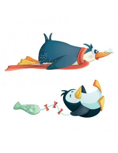 Stickers Polaire,Sticker Polaire: Pingouins Joueurs
