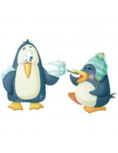 Stickers Polaire,Sticker Polaire: Pingouins Farceurs