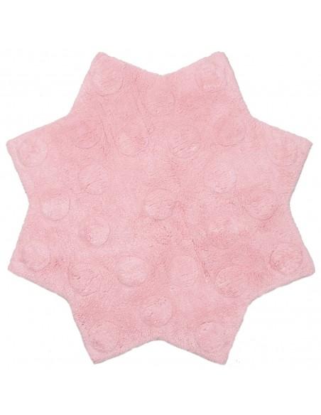 Tapis étoile,Tapis enfant: Little Stella rose