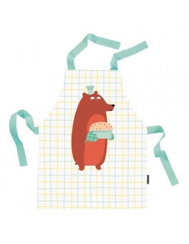 Veste & Tablier personnalisé,Tablier de cuisine enfant: Grizzly