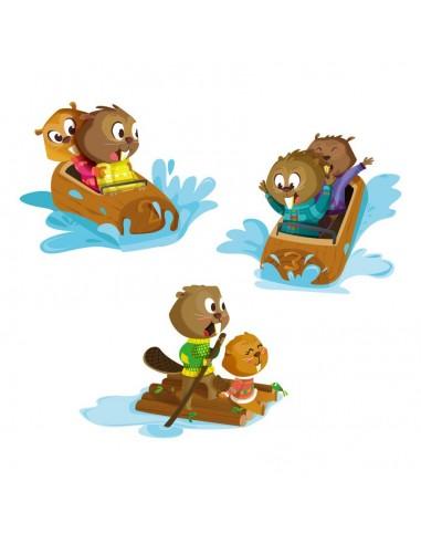 Stickers Forêt,Sticker forêt: Frise jeux d'eau