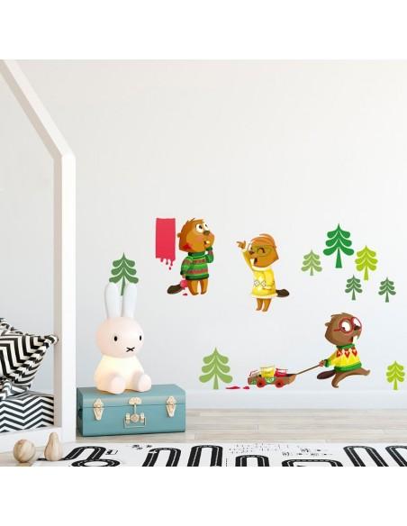Stickers Forêt,Sticker Forêt: Frise sapins