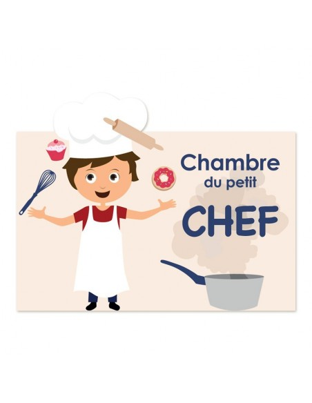 Plaques de porte,Sticker de porte: Cuisinier