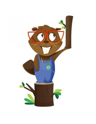 Stickers Forêt,Sticker enfant: Castor débutant
