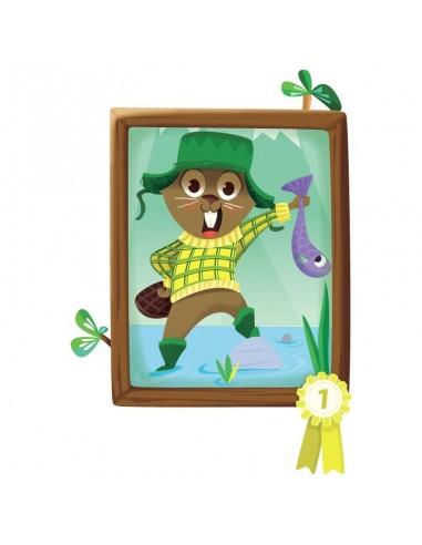 Stickers Forêt,Sticker enfant: Trophée de pêche castor