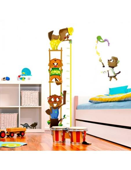 Stickers Forêt,Sticker enfant: Toise castor