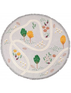Tapis ronds,Tapis Enfant: rond - Little Garden