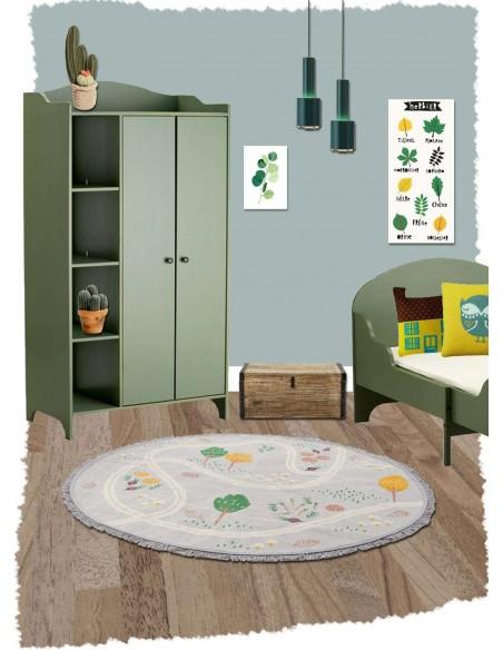 Tapis ronds,Tapis Enfant: rond - Little Garden