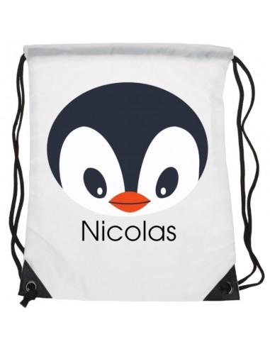 Sacs personnalisés,Sac enfant prénom: Pingouin