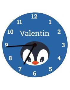 Horloges,Horloge enfant prénom: pingouin