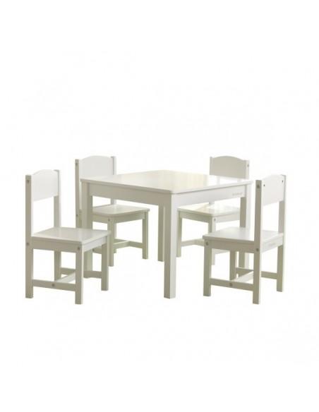 Table de jeux d'activités,Table et 4 chaises enfant Farmhouse