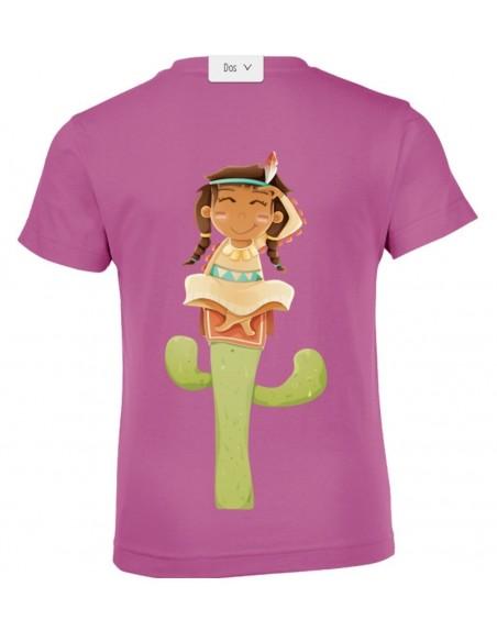 vêtements enfant,T-shirt personnalisable enfant fille: indienne