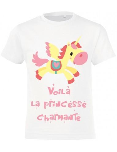 vêtements enfant,T-shirt enfant fille: princesse Eva