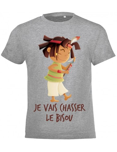 vêtements enfant,T-shirt enfant fille: indienne qui chasse