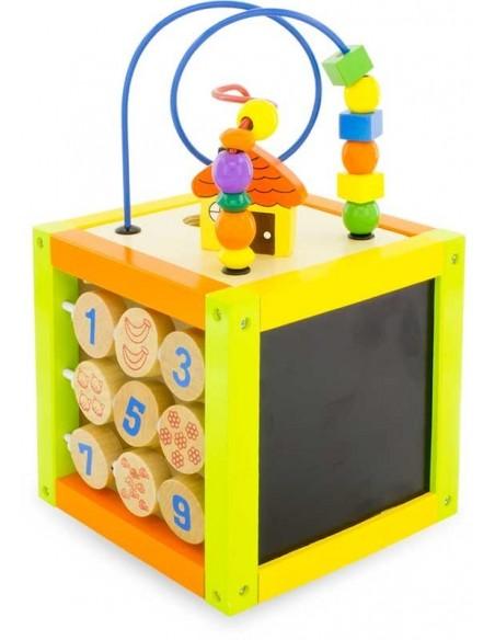 Jouet en bois,Cube Multi-Activités