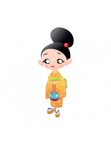 Stickers Asie,Sticker enfants japon: Sakura Chan