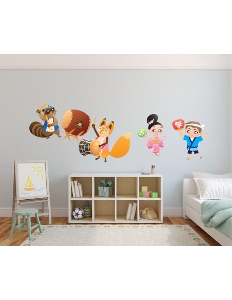 Stickers Monde,Sticker enfant Japon: Matsuri Sakura