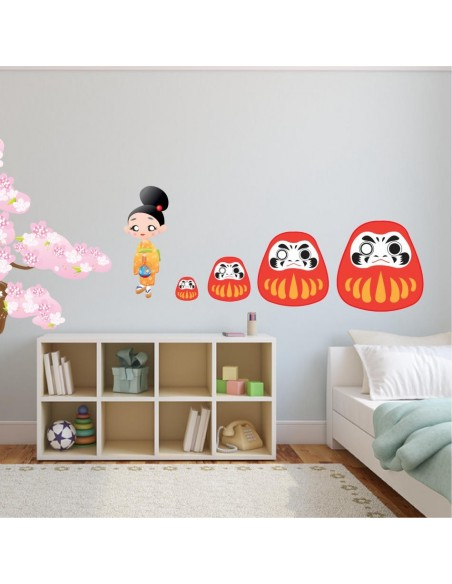 Stickers Monde,Sticker Japon: Daruma