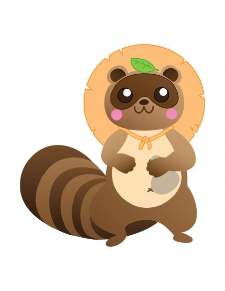 Stickers Monde,Sticker enfant japon: Tanuki