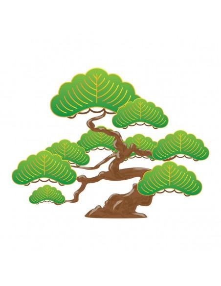 Stickers Monde,Sticker Japon: Matsu - Pin du japon