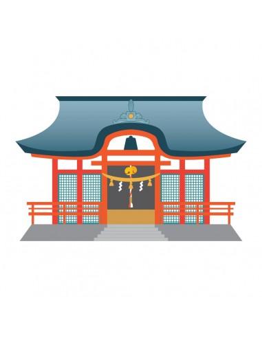 Stickers Monde,Sticker japon: Temple - decoloopio