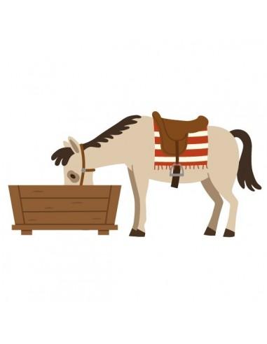 Stickers Indiens & Cowboys,Sticker enfant: cheval qui boit