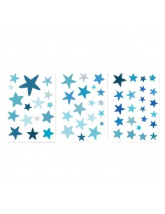 Stickers Graphiques,Stickers muraux: Etoiles bleues