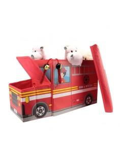 Coffre de Rangement Pompier pour Chambre d'Enfant