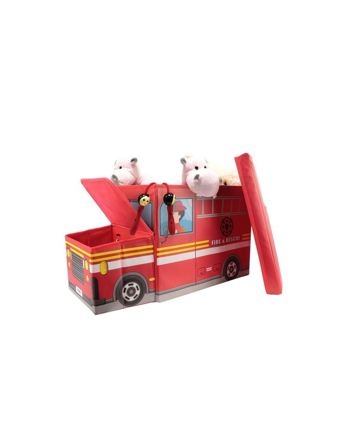 coffre de rangement pompier pour chambre d 39 enfant. Black Bedroom Furniture Sets. Home Design Ideas