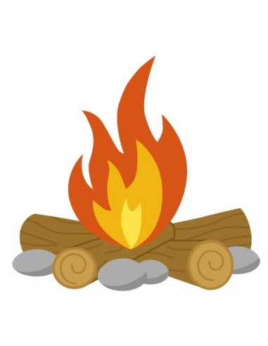 Stickers Indiens & Cowboys,Sticker enfant: feu de camp