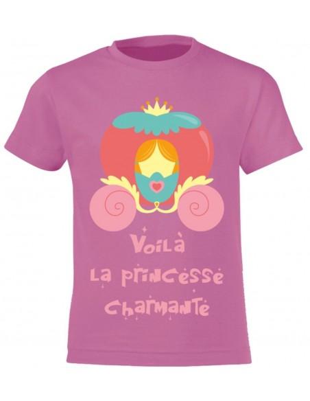 vêtements enfant,T-shirt enfant fille recto-verso: princesse