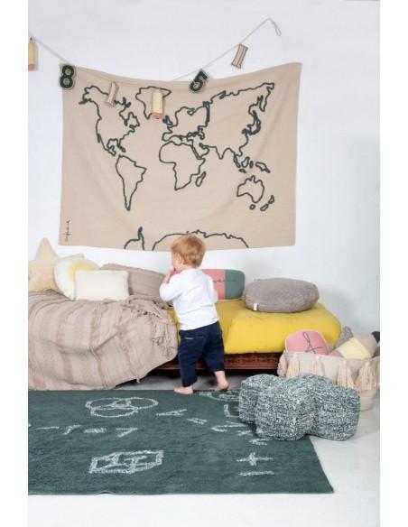 Tapis Enfant,Tapis mural enfant: Mapmonde