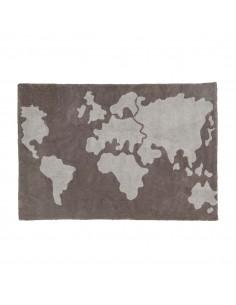 Tapis enfant : Carte du monde
