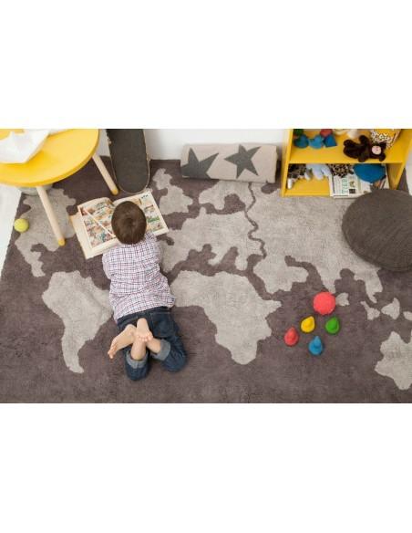 Tapis Lavables,Tapis enfant: Carte du monde