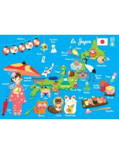 Set de table,Set de table enfant: Carte du japon