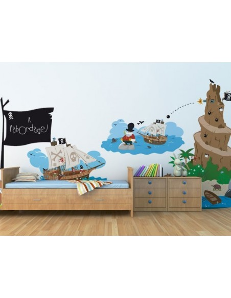 Stickers Pirates,Sticker Paysage Pirate