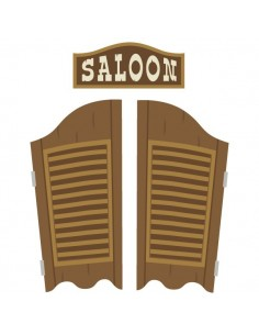 Stickers Indiens & Cowboys,sticker enfant: porte saloon