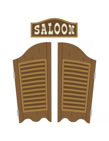 Stickers Indiens & Cowboys,sticker enfant: porte saloon