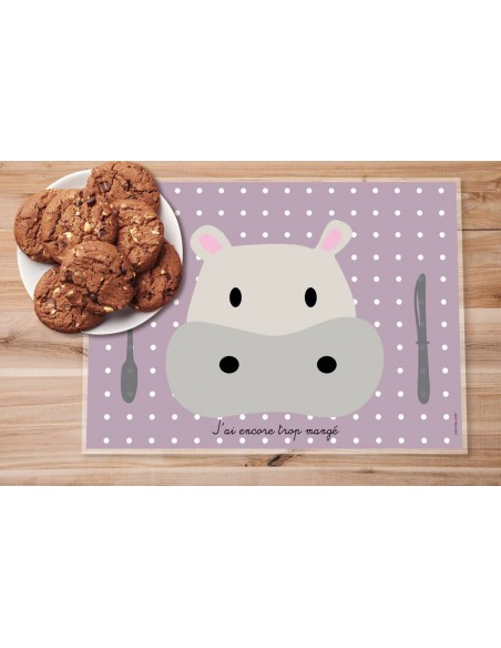 Set de table,Set De Table Enfant: Hippo