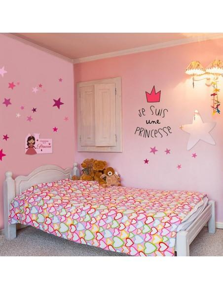 Kit Deco Promo,Kit Déco: Princesse étoiles rose - plaque de