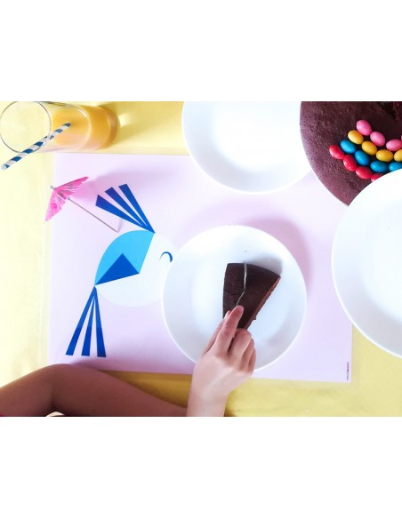 Set de table,Set de table enfant: Pioupiou joyeux